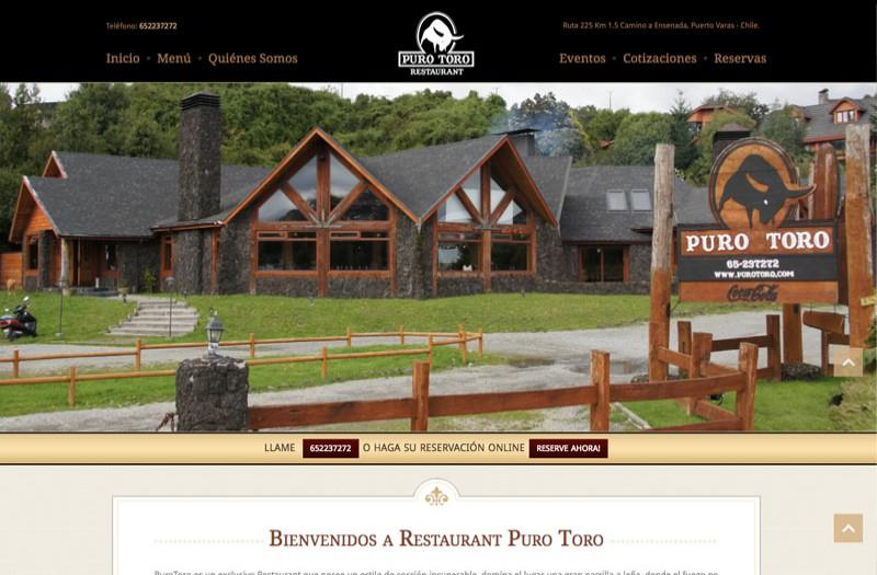 Restaurant Puro Toro - WDesign - Diseño Web Profesional