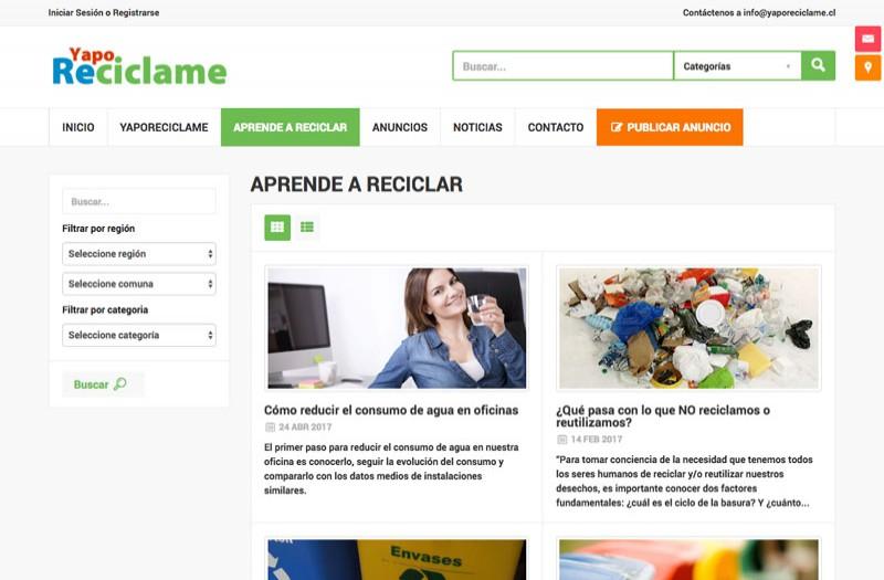 Yapo Recíclame - WDesign - Diseño Web Profesional